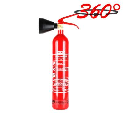 Gloria 2kg-os CO2-vel oltó tűzoltó készülék